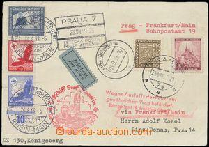 139060 - 1939 ZEPPELIN  zeppelinový lístek zaslaný do Lince přepraven