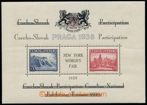139131 - 1939 Exilové vydání, AS10a, aršík Pof.A342/343, černý text i