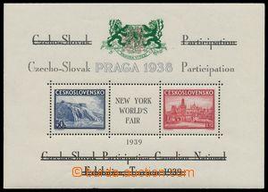 139132 - 1939 Exilové vydání, AS10x, aršík Pof.A342/343, černý text,