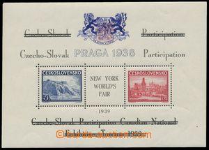 139133 - 1939 Exilové vydání, AS10d, aršík Pof.A342/343, černý text,