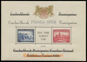 139134 - 1939 Exilové vydání, AS10e, aršík Pof.A342/343, černý text,