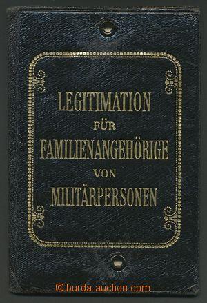 139225 - 1916 ŽELEZNICE  průkaz pro rodinné příslušníky vojenských os