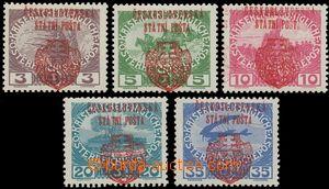 139569 - 1918 Pražský přetisk II. (velký znak), v červené barvě na Vá