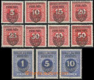 139575 - 1918 Pražský přetisk II. (velký znak), v černé barvě na dopl