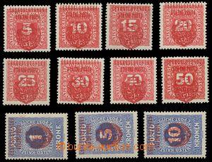 139576 - 1918 Pražský přetisk II. (velký znak), v červené barvě na do