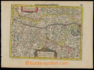 139697 - 1628 MAPA RAKOUSKA  Austria Archiducatus, Gerard Mercator, v