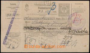 139772 - 1918 peněžní poukázka maďarského původu 2f vyplacena hotově