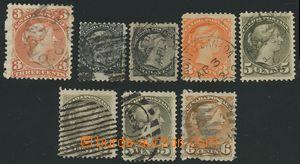 139781 - 1868-76 sestava 8ks známek Královna Viktorie - hledící vprav