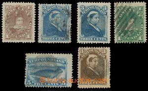 139783 - 1880-96 sestava 6ks zn., obsahuje Mi.31b, 33a, 33c, 34a, 36b