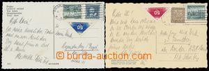 140647 - 1938 sestava 2ks pohlednic s použitím Doručních zn., Pof