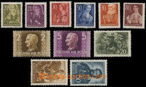 141864 - 1944 CHUST  Pof.RV191-201, nekompletní série 11ks známek, ho