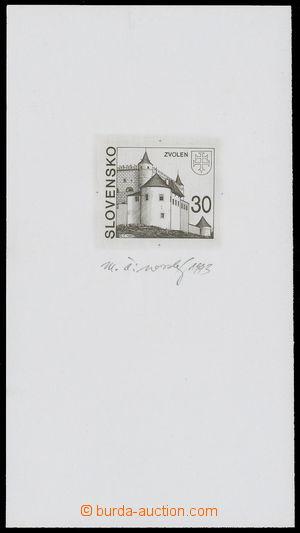 142249 - 1993 ZT  Zsf.18, Zvolen 5Sk, zkusmý tisk na výstřižku, s pod