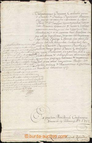 142398 - 1712 KAREL VI. (1685–1740), císař římský, král český a uhers