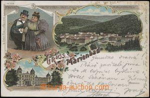 142458 - 1898 MARIÁNSKÉ LÁZNĚ (Marienbad) - 3-okénková litografická k