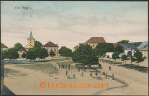 142651 - 1907 ONDŘEJOV - village square, church, pond, lithography;