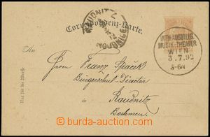 142796 - 1892 příležitostné raz. INT. AUSSTELLG. MUSIK-THEATER WIEN/