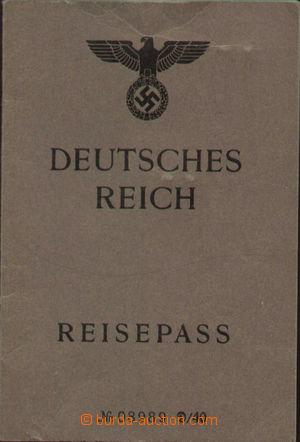 143368 - 1940 CESTOVNÍ PAS Německé říše na jméno Otto Augustin Schach