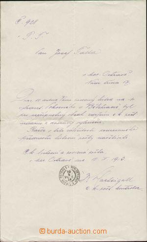 143412 - 1918 CENZURA  dopis s oznámením o zabavení zásilky, DR MOR.