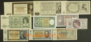 143611 -  ČaM, SLOVENSKO  sestava 10ks bankovek SPECIMEN; Ba.36, Ba.4