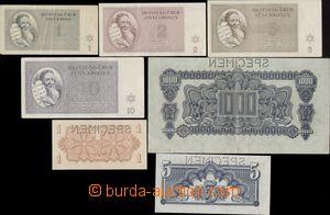 143612 - 1944 ČaM  sestava 3ks poukázek SPECIMEN, Ba.56, Ba.57 a Ba.8