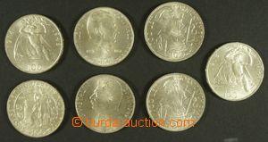 143617 - 1945-53 ČSR II.  sestava 7ks Ag pamětních mincí 100Kčs, Horn