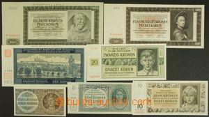 143641 - 1939-45 ČaM  sestava 7ks bankovek s perforací SPECIMEN, Ba.3
