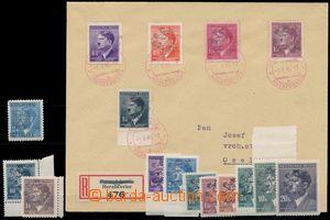 143906 - 1945 HORAŽĎOVICE  filatelisticky ovlivněný dopis s 5-barevno