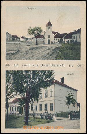 144090 - 1915 DOLNÍ HERŠPICE (Unter Gerspitz) - 2-okénková, náves, šk
