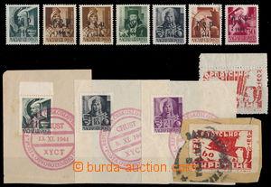 144262 - 1944 CHUST  Pof.RV174, 177, 180, 183-4, 190, sestava známek