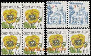 144268 - 1994-2002 Pof.35, 330, Brno 3Kč, vodorovná 2-páska + Krása k