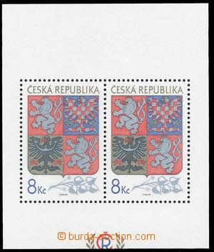 144270 - 1993 Pof.A10VV, aršík Velký státní znak, odlišný ořez; kat.