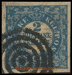 144389 - 1851 Mi.2 I., 2S modrá RIGSBANK-SKILLING, Freslew, TD 2, vel