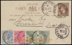 144874 - 1895 dopisnice Královna Viktorie ½P hnědá, dofr. 4-bare