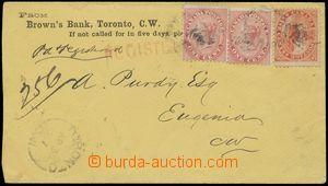 144882 - 1867 firemní R-dopis vyfr. zn. SG.29 2x, 32, Královna Viktor