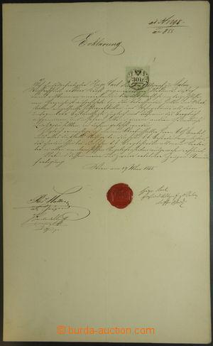 144926 - 1855 RAKOUSKO  vlastnoruční podpis Huga Karla knížete ze Sal