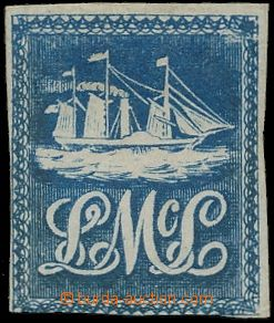 145087 - 1847 SG.1, Lady McLeod, 5c modrá, litografie (loď a iniciály