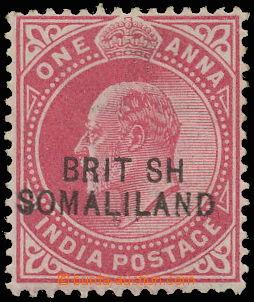145246 - 1903 SG.26a, Edvard VII. 1A červená, chybotisk přetisku BRIT