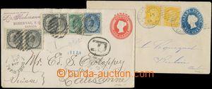 145263 - 1894, 1901 sestava 2ks dofrankovaných celinových obálek, Krá