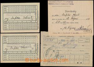 146222 - 1928 sestava 2ks poukazů na stravu, 1x dovolenka  - vše na H