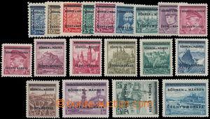 146392 - 1939 Pof.1-19, Přetisková emise, kompletní; vyšší hodnoty zk