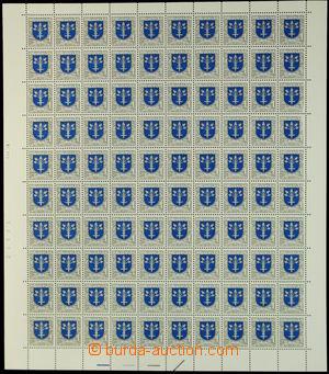 146745 - 1993 Zsf.16, Dubnica, kompletní 100-zn. arch s datem tisku 7