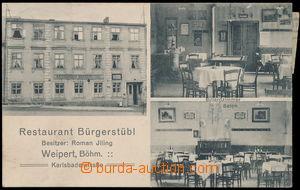 146925 - 1919 VEJPRTY (Weipert) - 3-okénková, restaurace Bürgerstübl,