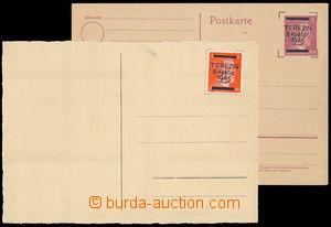 147062 - 1945 TEREZÍN  8. květen / 1945, černý přetisk na zn. Hitler,