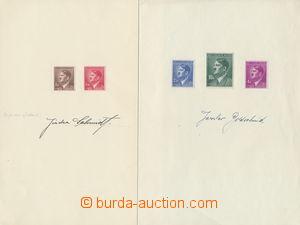 147213 - 1942 sestava 2ks dárkových listů s 5 známkami Hitler 1K, 1,2