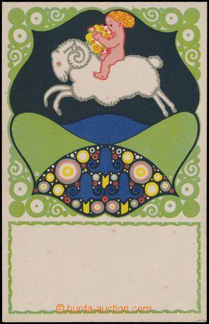 147350 - 1910 Wiener Werkstaette No.790, Josef Divéky - beránek, nepo