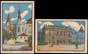 147355 - 1915? LIBEREC (Reichenberg) - sestava 2ks litografií, autor