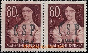 147679 - 1944 CHUST  Pof.RV199, 80f Slavné ženy, 2-páska, zk. Bl