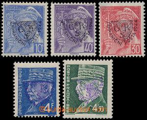 147682 - 1944 FRANCIE / ZAHRANIČNÍ POŠTA  sestava 6ks francouzských z