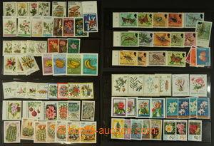 147957 - 1965-90 [SBÍRKY]  FLÓRA sestava námětových známek na 4 obous
