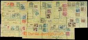 148286 - 1939 sestava 10ks menších částí průvodek, vše vyfr. smíšenou